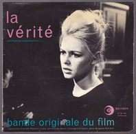 BARDOT BRIGITTE - EP - 45T - Disque Vinyle - BOF La Vérité - 45120 - Música De Peliculas