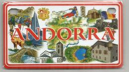Beautiful Andorra Magnet (metal)  105 X 60 Mm.  (Principality Of Andorra) - Magnets
