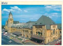 Cpsm -     Metz - La Gare  , Animée    N17 - Metz