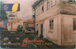 GRENADE  -  Phonecard  - Cable § Wireless  - Street Scene Gouvyave  -   EC$40 - Grenada