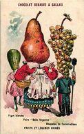 3 Cartes Litho1895 Vegetable Veggie Personages Fruit Et Légumes Anthropomorphic PUB Pear Grape Ananas Cocos  Figue E - Other