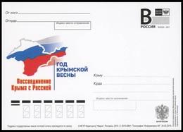RUSSIA 2015 ENTIER POSTCARD 086/1 Mint KRYM CRIMEA CRIMEE FLAG GEOGRAPHY GEOGRAPHIE - Entiers Postaux