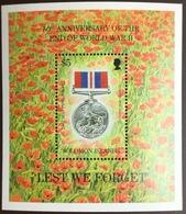 Solomon Islands 1995 World War II Anniversary Minisheet MNH - Salomoninseln (Salomonen 1978-...)