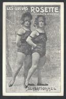 +++ CPA - Spectacle - Artiste - Cirque - Femme Célèbre - LES SOEURS ROSETTE - Nouveauté Aérienne   // - Artistes