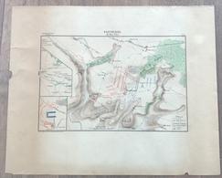 Carte Bataille De Fontenoy 11 Mai 1745 - 1890 - Dokumente