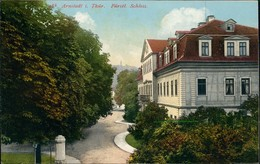 Ansichtskarte Arnstadt Schloß Fürsten-Schloss Color Ansicht Mit Park 1910 - Arnstadt