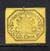 APR2345 - STATO PONTIFICIO 1867 , Sassone N. 19  Senza Gomma   (M2200). Difettoso - Stato Pontificio