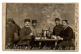 Guerre 1914-18 / Carte-Photo : Les Haricots Sont Bons à La 27 è (Caricature Du Kaiser Sur Le Mur : Tête De Cochon). - Personnages
