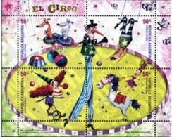 Ref. 149260 * MNH * - ARGENTINA. 2004. THE CIRCUS . EL CIRCO - Dogs