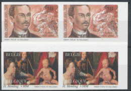 D - [54059]SUP//ND/Imperf-c:40e-N° 2569/70, Commémorations. Guillaume Lkeu (1870-1894), Compositeur Et Hans Memling (143 - Belgique