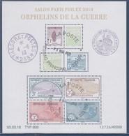 = Bloc Oblitéré Orphelins De La Guerre Salon Paris Philex Daté 05.03.18 F5226 5227 5228 5229 5230 5231 5232 5233 - Sheetlets
