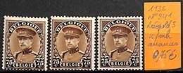 D - [831422]TB//*/Mh-Belgique 1932 - N° 341, Léopold 3, Nuances, Familles Royales, Rois - 1931-1934 Képi