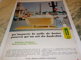 ANCIENNE  PUBLICITE DOUCHE MASSAGE BADEDAS 1969 - Profumi & Bellezza