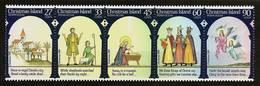 CHRISTMAS ISLAND 1985 - CHRISTMAS / The History + Story - 5-strip Mi 211-215 MNH ** Cv€8,00 V863l - Christmaseiland