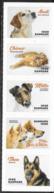 DENMARK, 2019, MNH, DOGS, 5v S/A Ex. BOOKLET - Hunde