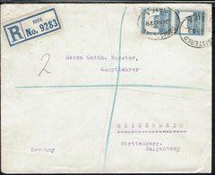 Palestine - Paire Mosquée N° 71 Sur Enveloppe En Recommandé, De Haifa Pour Heidenheim (All) 21 Nov. 1929 - B/TB - - Palestine