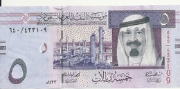ARABIE SAOUDITE 5 RIYALS 2012 UNC P 32 C - Arabie Saoudite