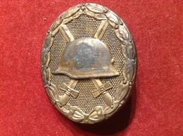 Verwundetenabzeichen WW2 ENTNAZIFIZIERT Gold 1939 - 1939-45