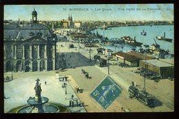 Bordeaux Les Quais Vue De La Douane.j 1915 LL Tramway - Bordeaux