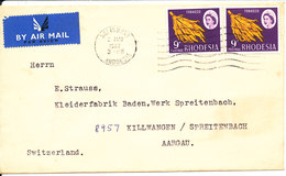 Rhodesia Cover Sent Air Mail To Switzerland Salisbury 2-5-1967 - Rhodésie (1964-1980)