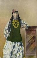 Uzbekistan Russia, Types Of Central Asia, Sart Girl With Long Hair 1917 Postcard - Ouzbékistan