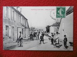 St LOUP DE LA SALLE ROUTE DE CHAGNY Maquignon Veau Chevre - France