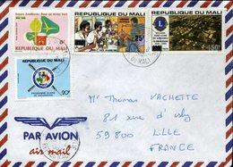 MALI BAMAKO PHILATELIE 1993 Pour La France Lions Club Campagne Contre La Polio Vaccination Mali Vert - Mali (1959-...)