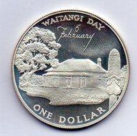 NEW ZEALAND, 1 Dollar, Silver, Year 1977, KM #46a - New Zealand
