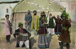 Uzbekistan Russia, Types Of Central Asia, Local Dance And Music (1917) Postcard - Ouzbékistan