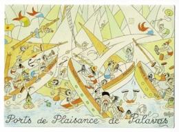 """CPM Illustrée Par Albert Dubout - 1969 -  """"Ports De Plaisance De Palavas"""" Circulé Sans Date, Sous Enveloppe - Dubout"""