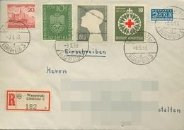 Bund 1953 50 J. Deutsches Museum Mischfrankatur 163 MiF Auf R-Brief (X18718) - Briefe U. Dokumente