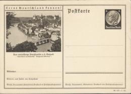 DR  P 236, Bildpostkarte 38-107-1-B1: Burghausen (mit Druckfehler: An Der Sulzach), Ungebraucht - Allemagne