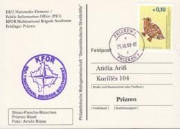 KOSOVO UNMIK 11 EF, Auf Feldpostkarte Der KFOR Brigade Southwest, Mit Stempel: Prizren 25.10.2003 - Briefe U. Dokumente