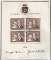 LIECHTENSTEIN 614 I, Kleinbogen, Gestempelt, Freimarke: Fürstenpaar 1974 - Blocs & Feuillets
