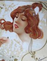 C. P. A. Couleur Art Nouveau : Neige, Superbe Tête De Jeune Rousse, Timbre En 1902 - 1900-1949