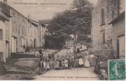 88 - VILLE SUR ILLON - EGLISE ET PORTAIL DU CHATEAU - Other Municipalities