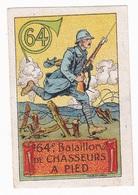 Vignette Militaire Delandre - 64ème Bataillon De Chasseurs à Pied - Vignettes Militaires