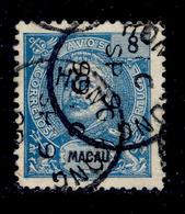 ! ! Macau - 1898 D. Carlos 8 R - Af. 84 - Used - Oblitérés