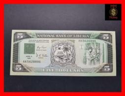 LIBERIA 5 $  6.4.1991  P. 20  UNC - Liberia