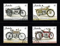 Australia 2018 Vintage Motorcycles Set Of 4 Used - Used Stamps