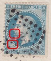 N°29B Sur Enveloppe Variété Suarnet 102, à La Petite Cigarette Et Encoche Imbriquement SO, RR, TB - 1863-1870 Napoleon III With Laurels