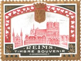 """Vignette """"REIMS Timbre Souvenir"""" - Probablement éditée Pour La Grande Semaine D'Aviation De La Champagne De 1909 - Erinnophilie"""