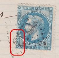 N°29B Sur Lettre Variété Suarnet 53, Position 142A2, Taches Grecque Bas Gauche, TB - 1863-1870 Napoleon III With Laurels