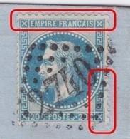 N°29B Sur Lettre Variété Suarnet 71a, Position 93A2, Filet Droit En Vague, Légende Sup Brouillée, TB Et RRR - 1863-1870 Napoleon III With Laurels