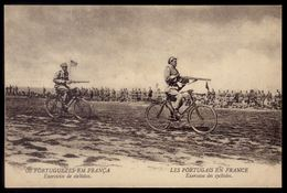Bicicletas Militares OS PORTUGUESES Em FRANÇA Guerra 1914 /18.LES PORTUGAIS En FRANCE WW1. Postal CEP C.E.P. Phot.GARCEZ - Guerra 1914-18