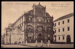 VELHA GOA India Portuguesa. CONVENTO De BOM JESUS. Postal Edição Christovam Fernandes. Portugal Colonial - India