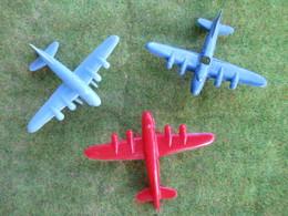 1 Lot De 3 Avions En Plastique - Toy Memorabilia