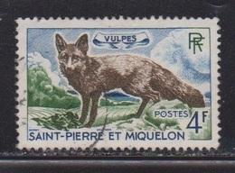 ST PIERRE & MIQUELON Scott # 371 Used - Fox - St.Pierre Et Miquelon
