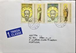 "Slovakia, Circulated Cover To Portugal, ""Religion"", ""The Seven Saints"", 2010 - Slowakische Republik"