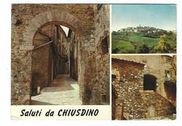 4413 - SALUTI DA CHIUSDINO SIENA 3 VEDUTE 1974 - Italia
